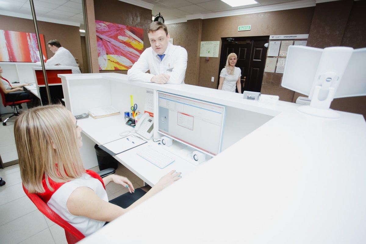 Ресепшн Челябинской клиники мужского здоровья