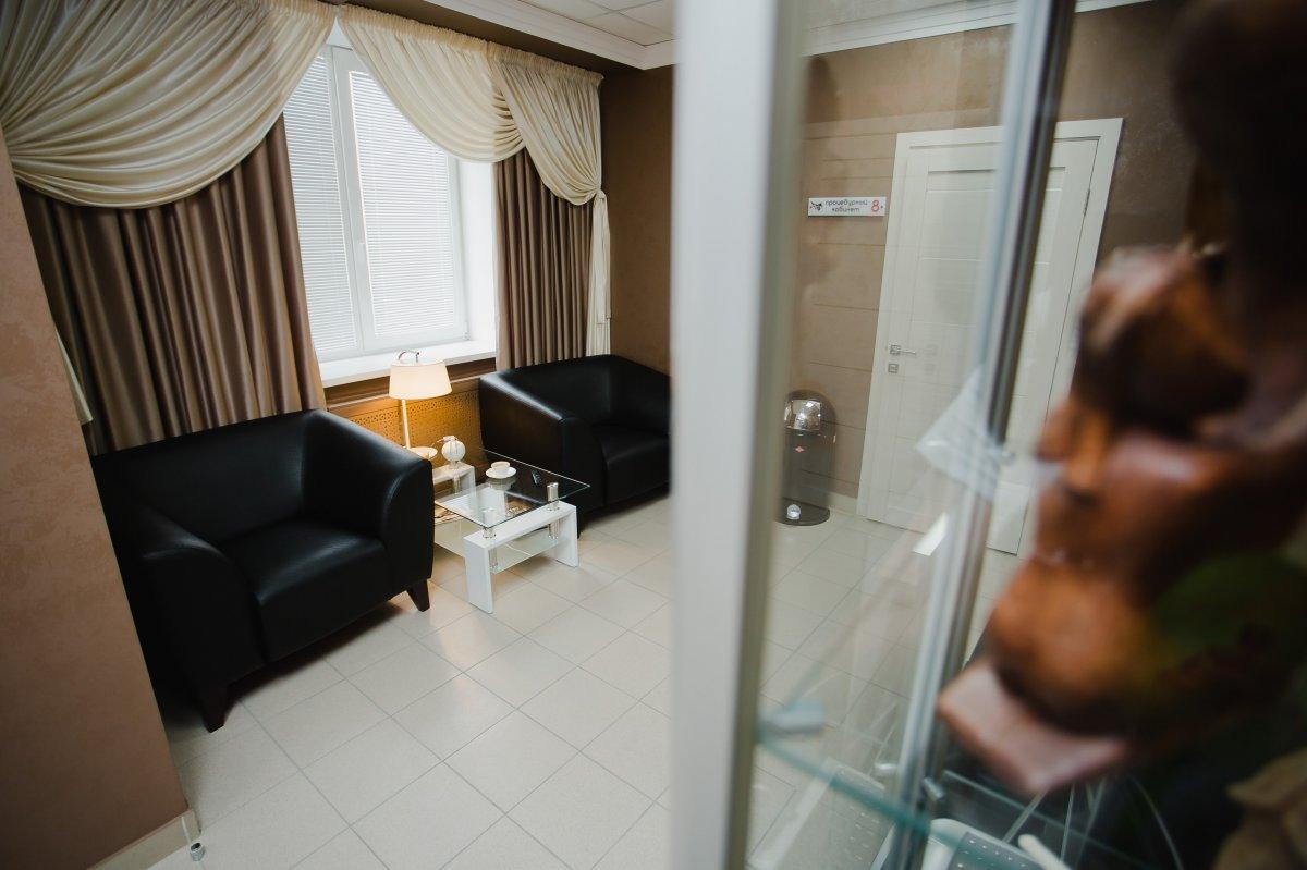 Зона ожидания Челябинской клиники мужского здоровья